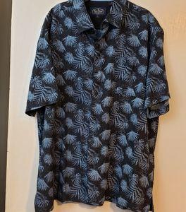 Nat Nast silk blend palm leaf shirt sz L